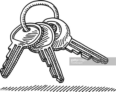 doodle drawings images key ring drawing vector getty images