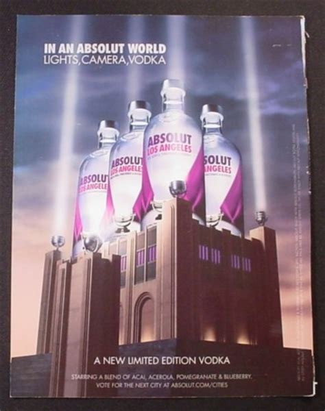 hegarty on advertising new edition books magazine ad for absolut los angeles limited edition vodka