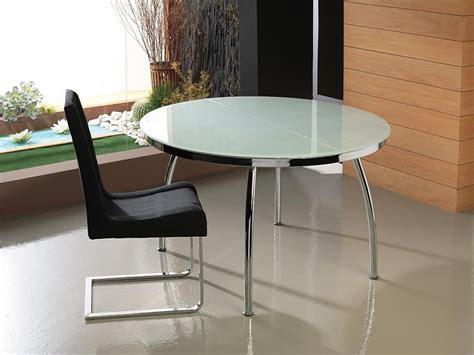 mesas de cocina redondas de cristal mesa cristal extensible redonda decorar tu casa es