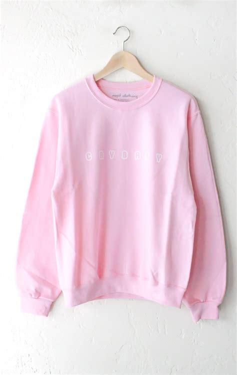 Sweater Produce 101 Season 2 Baby Pink crybaby oversized sweater pink crybaby and pink brand