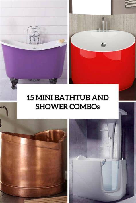 small bathtub shower combinations 15 mini bathtub and shower combos for small bathrooms digsdigs