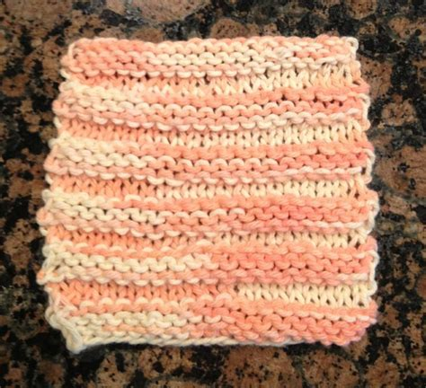 knit one row purl one row knit exfoliating washcloth using cotton yarn co 20 on