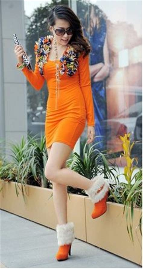 1000 images about color me in orange dresses on