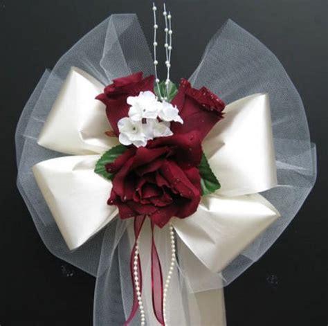 Wedding Bouquet Bows by 12 Pew Bows Wedding Bouquet Bridal Silk Flower Decoration