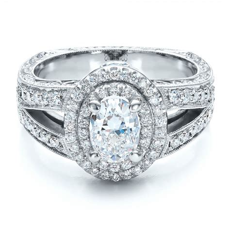 custom oval engagement ring 100041