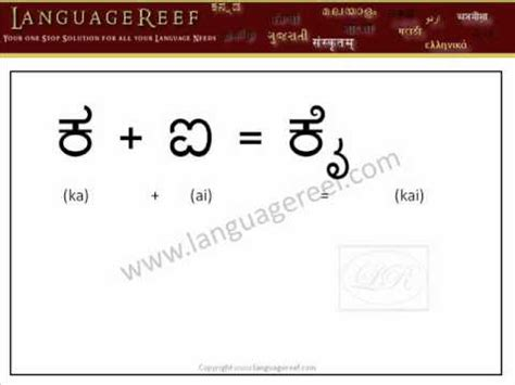 Confirmation Letter In Kannada Language Learn Kannada Vowel Signs With Audio And Transliteration Learn Indian Language Series