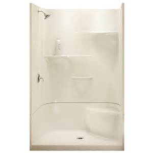 maax adesso white 34 in x 48 in 4 alcove shower kit