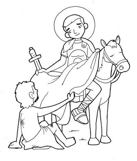 Catholic Saint Coloring Pages Coloring Home St Coloring Page Catholic