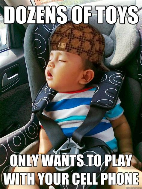Baby On Phone Meme - scumbag baby memes quickmeme