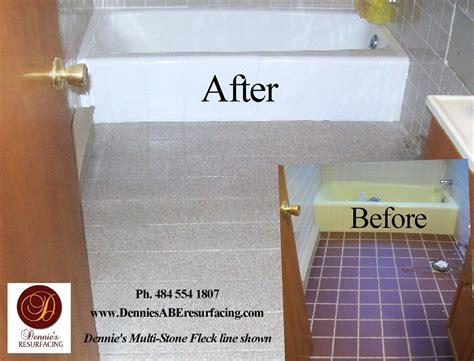 resurfacing bathroom floor tiles dennie s resurfacing llc bethlehem pa 18017 angies list