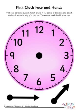 printable learning clock minieco co uk teaching clocks