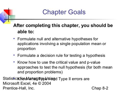 chap08 fundamentals of hypothesis