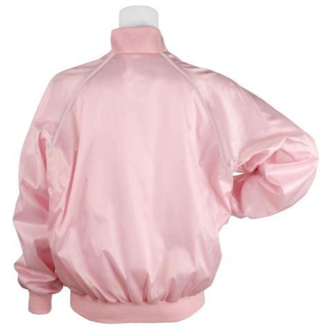 Pink Jaket 1 bowlingshirt satin jacket pink