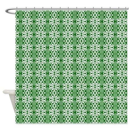 green and white shower curtain dark green and white damask shower curtain by graphicallusions