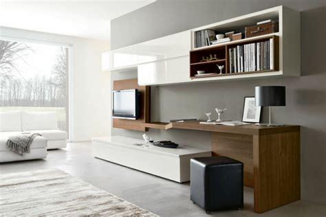 wohnzimmer schreibtisch wohnwand mit schreibtisch als arbeitsplatz im wohnzimmer