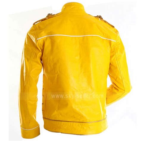 yellow motorcycle jacket concert yellow freddie mercury military motorcycle leather