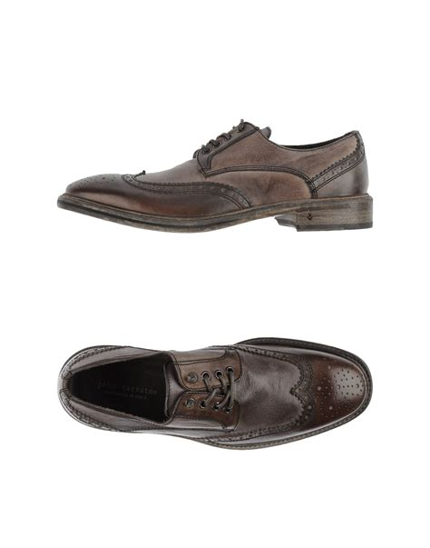 varvatos shoes varvatos lace up shoes in brown for lyst