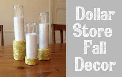 dollar store curtains dollar store fall decor candles tutorial clumsy crafter