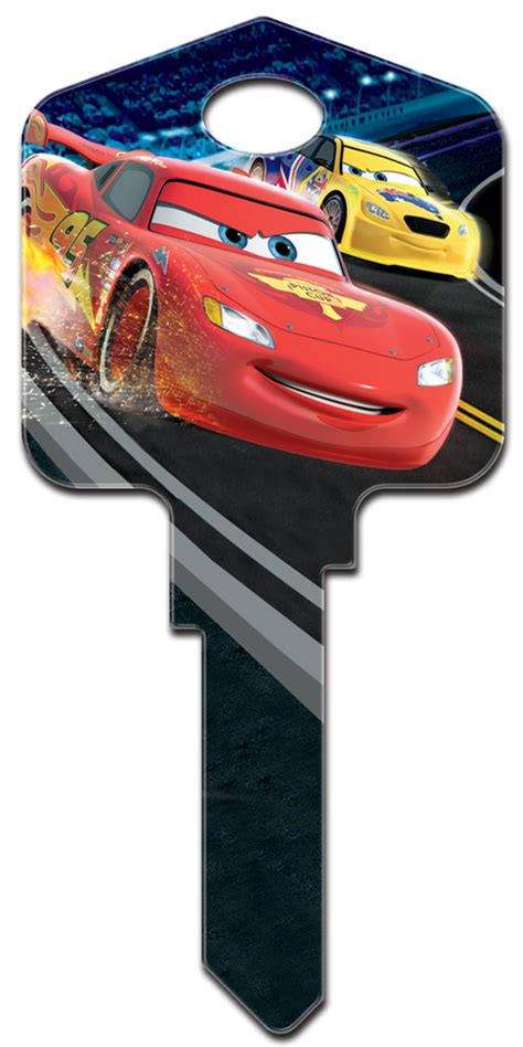 disney pixar lightning mcqueen licensed painted house key blank