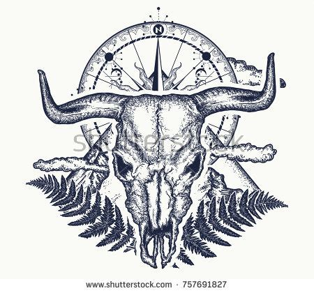 buffalo tattoo stock images royalty free images amp vectors
