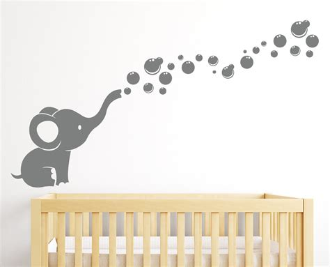 elephant nursery wall decor elephant bubbles wall decal nursery decor