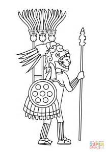 Aztec Warrior Coloring Page Free Printable Coloring Pages Aztec Coloring Pages