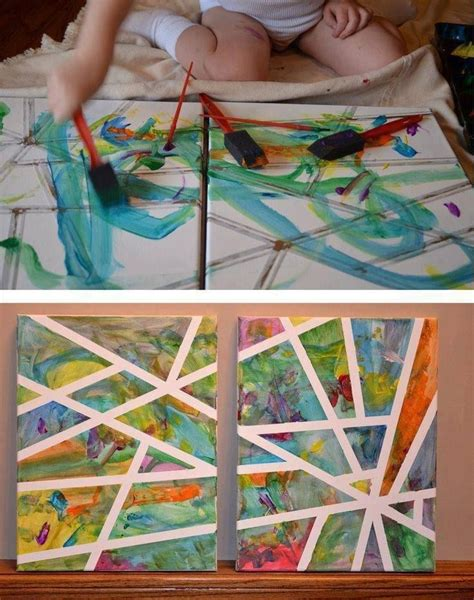 painting craft projects rainy day project masking paper paint