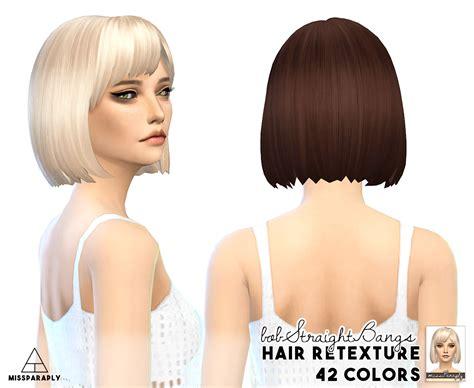 sims 4 cc hair retextures my sims 4 blog clay hair retexture by missparaply