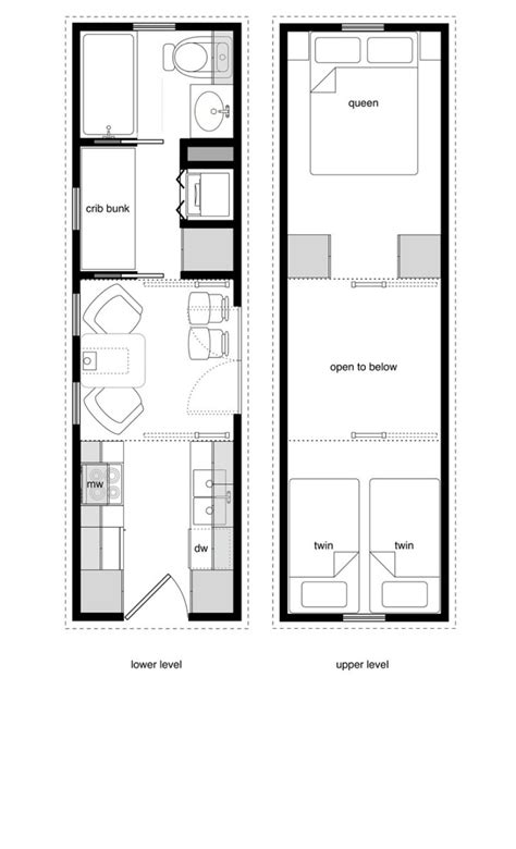 micro floor plans family tiny house design