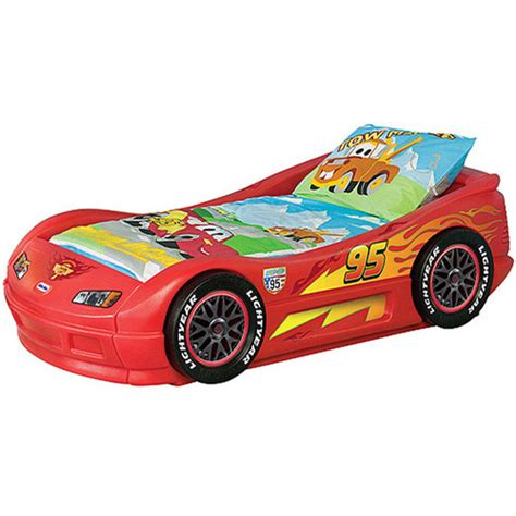 car toddler bed disney cars lightning mcqueen toddler bed walmart com