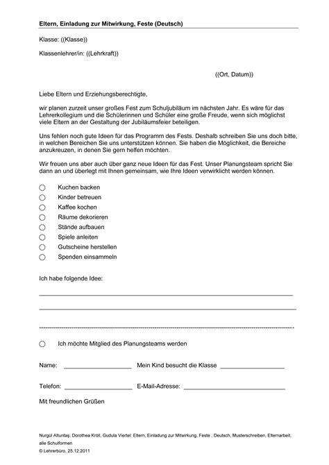 Muster Einladung Elternstammtisch Elternarbeit 183 Arbeitshilfen 183 Grundschule 183 Lehrerb 252 Ro