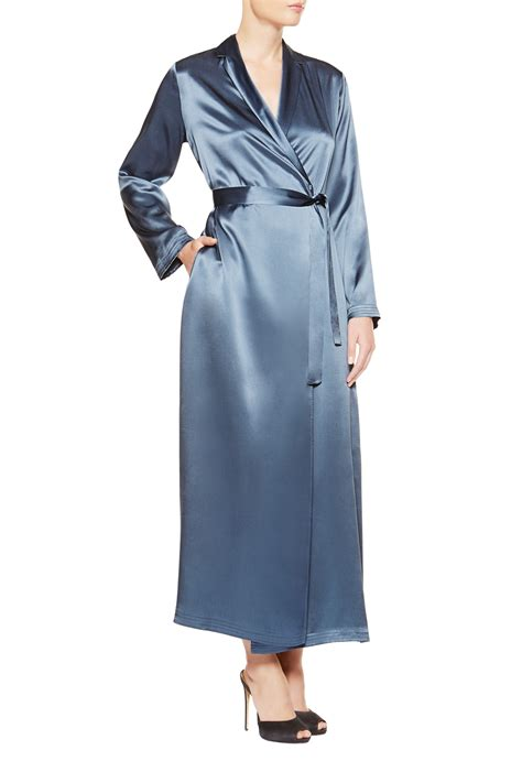 la perla robe la perla robe in blue light blue lyst