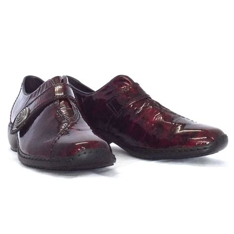 rieker palmera patent leather shoes mozimo