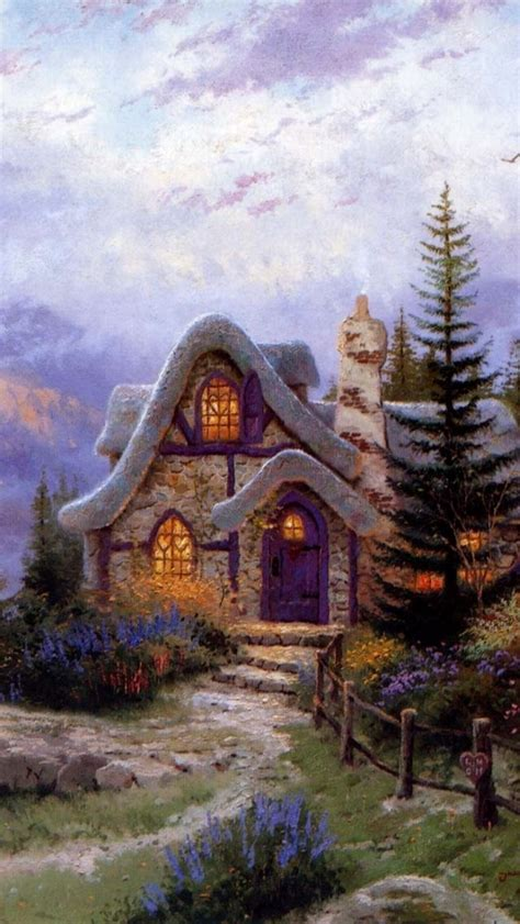 kinkade cottage painting 145 best images about storybook cottage in on