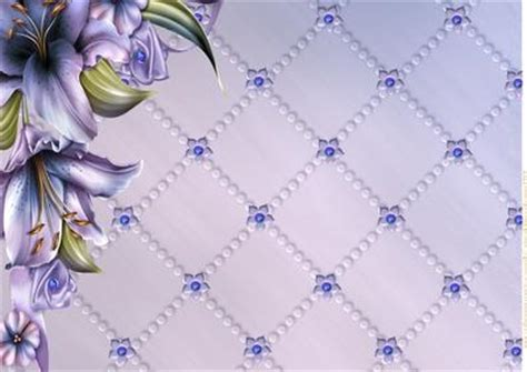 Background Papers For Card - a4 winterlilies background paper cup389228 936