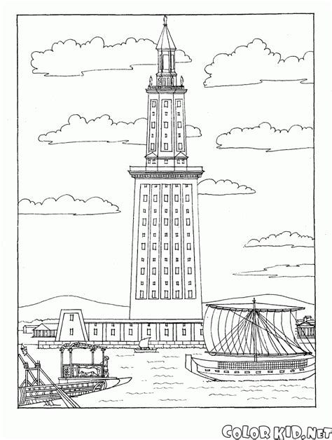 coloring pages of lighthouse of alexandria coloring page mausoleum at halicarnassus