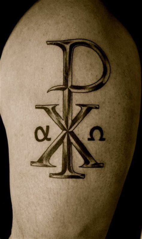 religious symbol tattoos designs another chi rho i like christian pins
