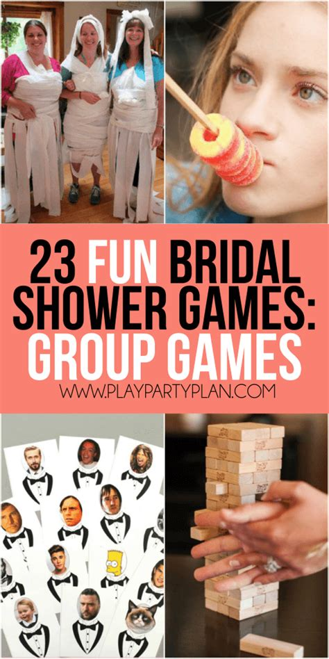 unique bridal shower for large groups 23 more bridal shower play plan