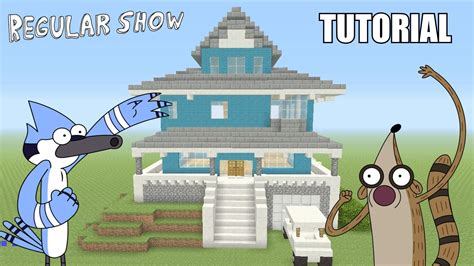 regular house minecraft tutorial how to make the quot regular show quot house survival house youtube