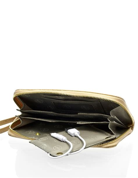 Walet Gold gold wallet smartphone charger cleo