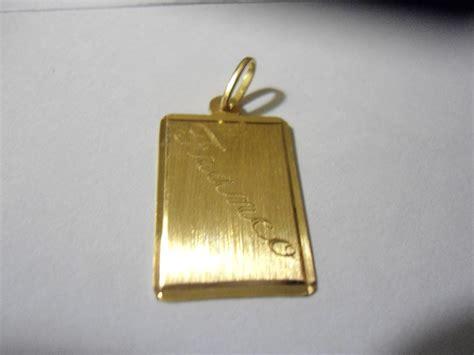 cadenas grabadas para hombre placa de oro 18 kilates con grabacion franco de 1 54