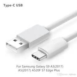 Kabel Data Samsung Galaxy A3 A5 A7 2017 Original Usb Type C type c usb fast charging data cable 1 2 3m charger cable for samsung galaxy s9 a32017 a52017