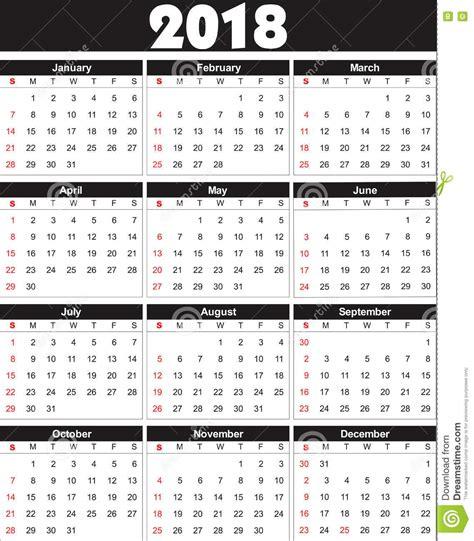 Kalendár Na Rok 2018 El Calendario 2018 Adentro Se Puede Convertir En Cualquier