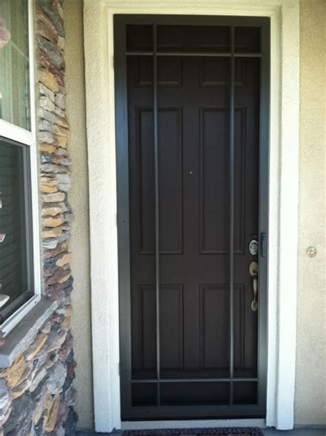 Screen Door Installation by Security Screen Doors Install Security Screen Door