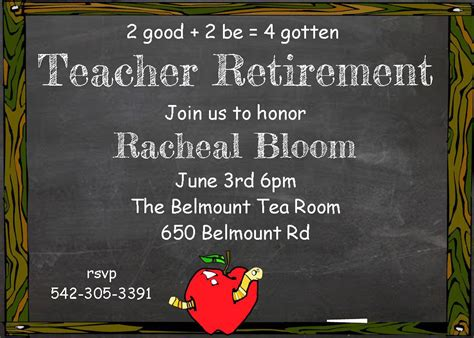 free retirement party invitation templates for word good free