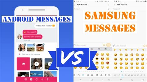 android messages vs samsung messages rcs