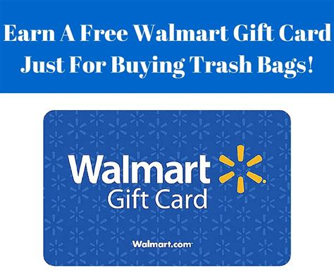 earn a free 10 walmart gift card just for buying trash - Earn A Gift Card