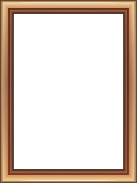 transparent classic brown frame png image gallery