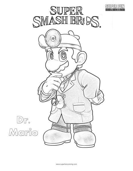 smash bros coloring pages dr mario smash brothers coloring page