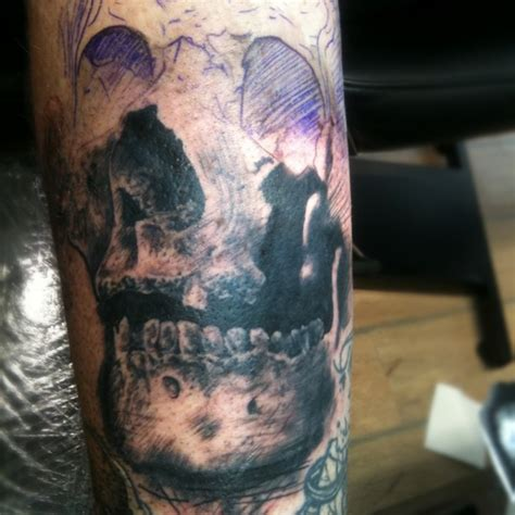 deep blue tattoo blue and skull tattoomagz